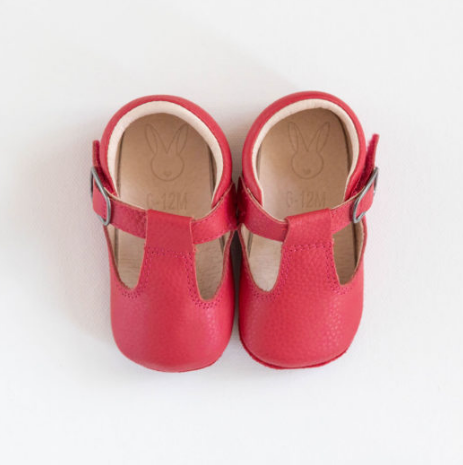 Aston Baby Shoes - Cranberry