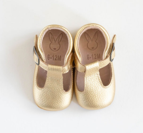Aston Baby Shoes - Gold