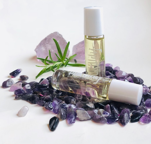 Aromatherapy Rollerball with Crystal