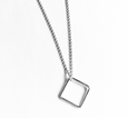 Simple Shapes Square Necklace