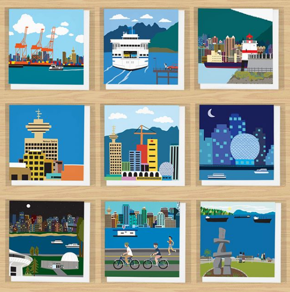 Vancouver Greeting Card Series