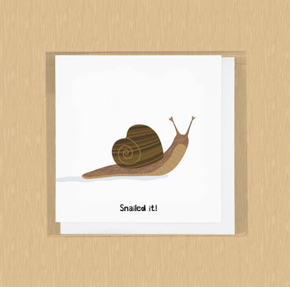 Snailed It! Congratulations Card