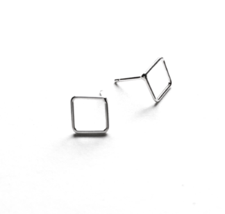 Simple Shapes Square Stud Earrings