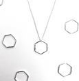 Simple Shapes Hexagon Necklace