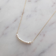 Tiny Pearl Rose Gold Necklace (Grace)