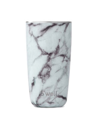 S'well Tumbler - White Marble