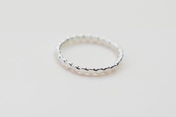 Simple Flat Ball Stacker - Silver Ring