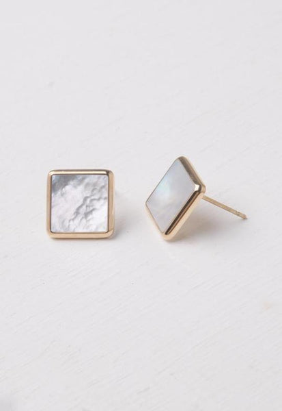 Weston Mother-of-Pearl & Gold Studs