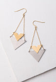 Wynne Gold & Steel Earrings