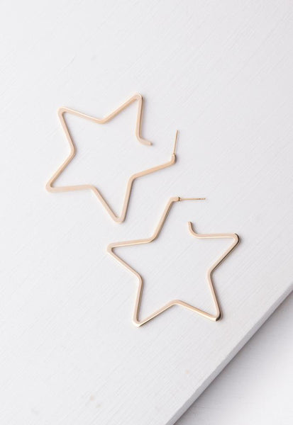 Celeste Gold Star Earrings