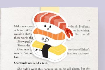 Sushi Stack Magnetic Bookmark