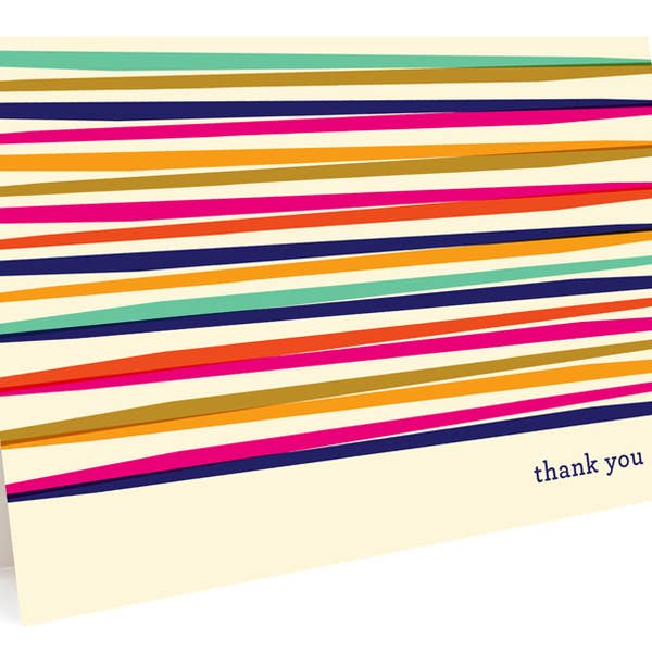Colourful Lines Thank You Cards - Boxed Set
