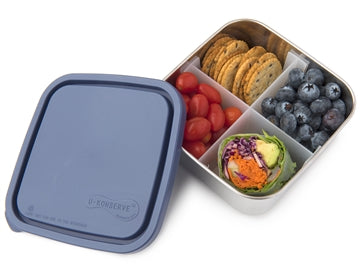 30 oz Stainless Steel Divided To-Go Container