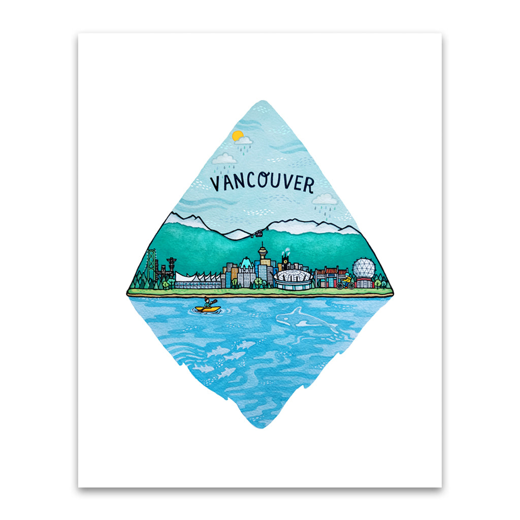 City Series Art Print - Vancouver