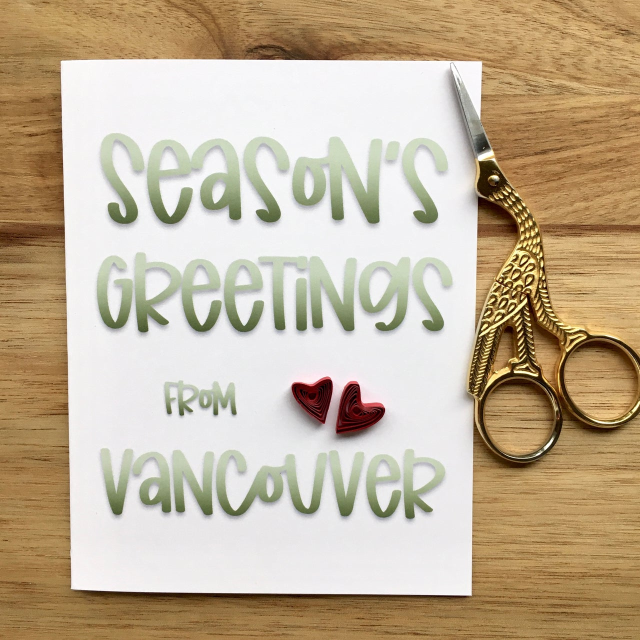 Greetings from Vancouver Card