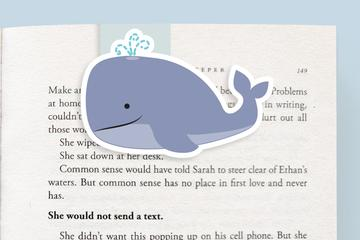 Whale Magnetic Bookmark