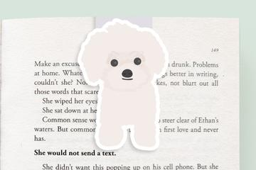 Poodle Dog Magnetic Bookmark