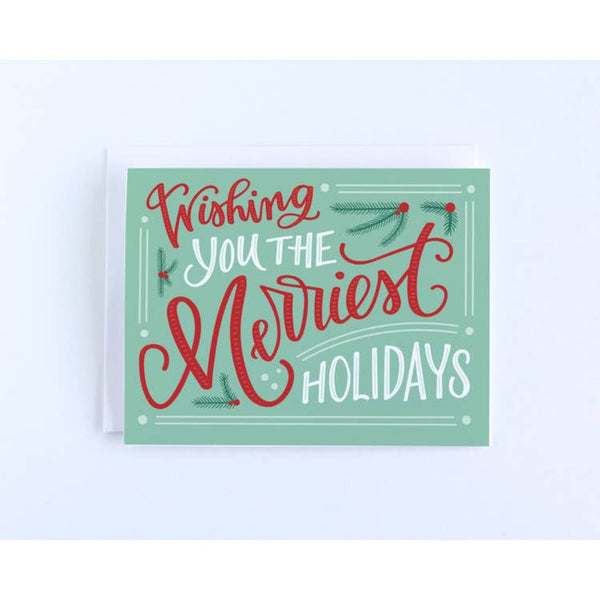Wishing You the Merriest Holidays Card