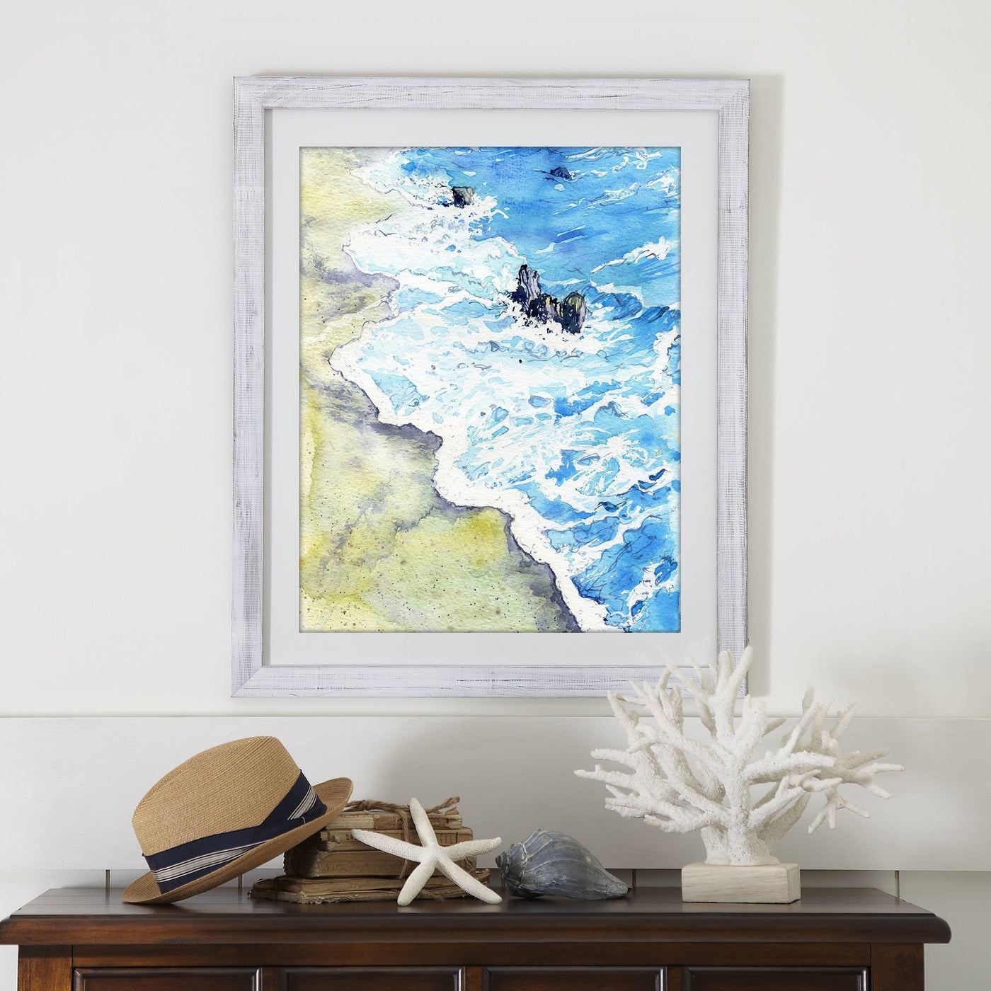 Ocean Art Print - Walk on the Beach