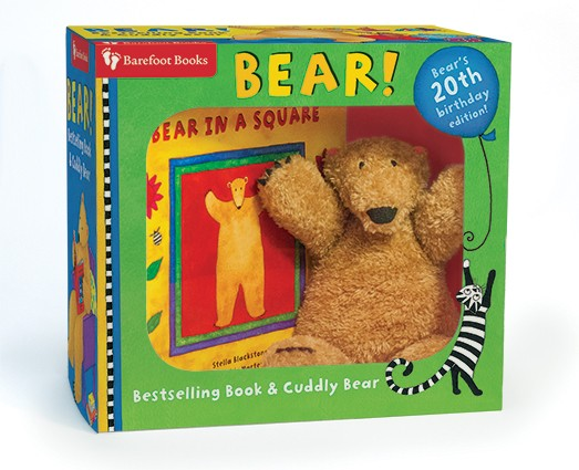 Bear in a Square Book and Cuddly Bear Set