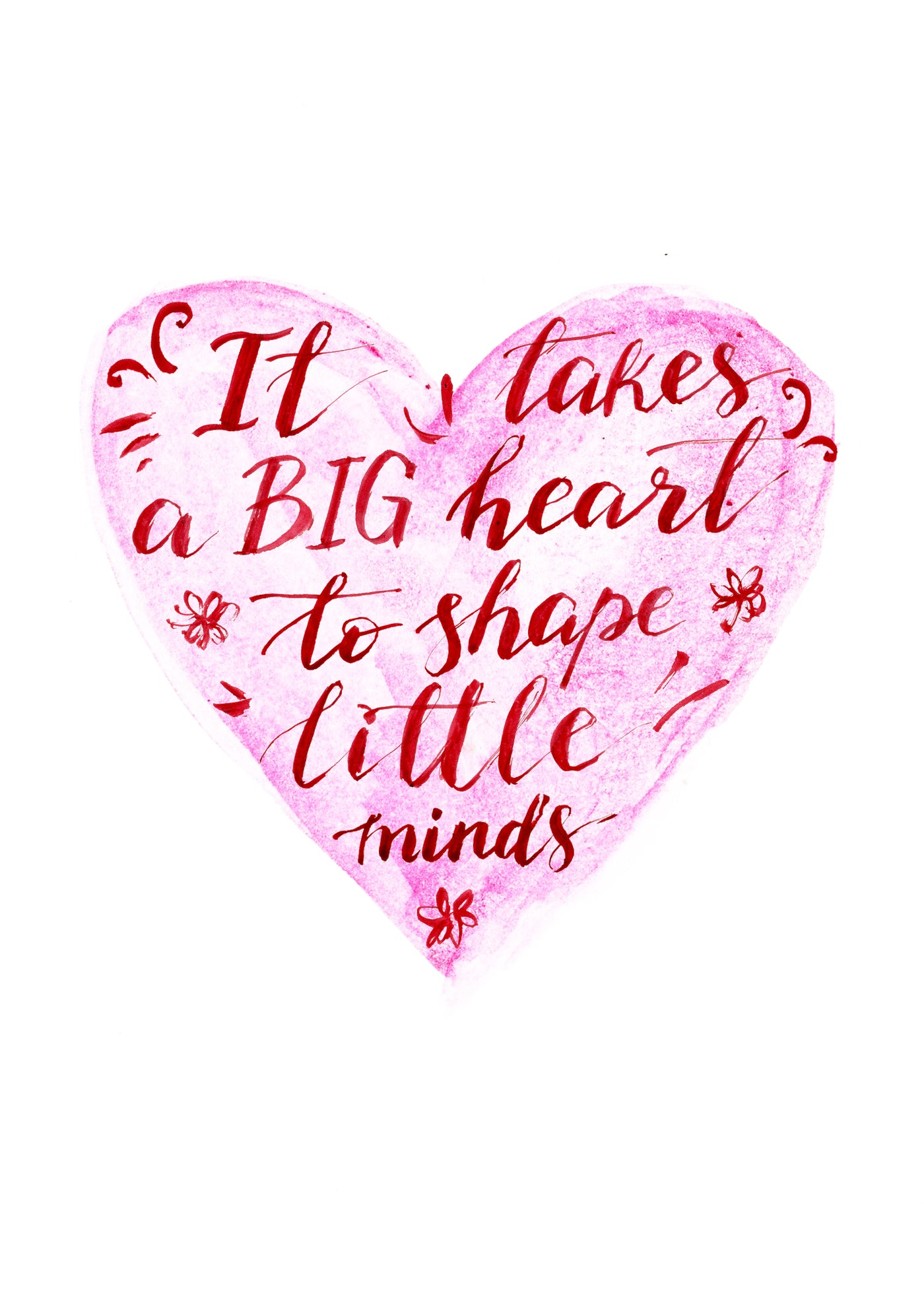 Big Heart - Teacher Card