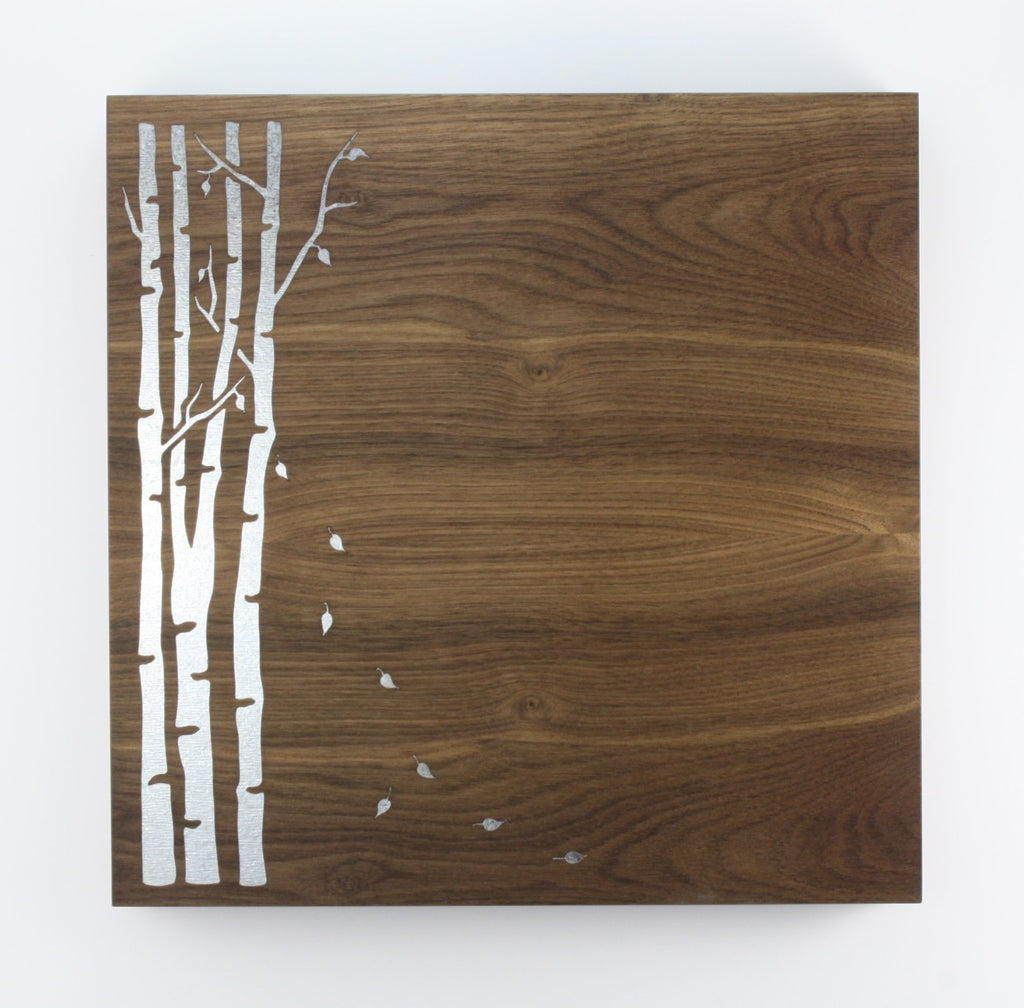 12x12 Wood Veneer Magnet Board - Birch Tree