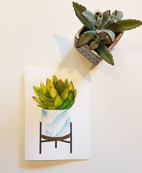 Potted Succulent Greeting Card