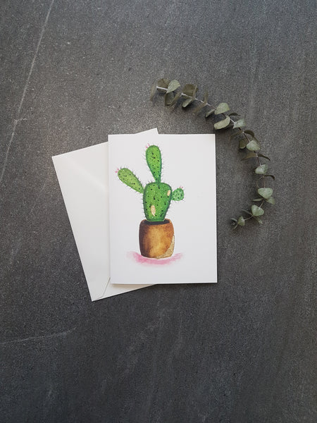 Potted Cactus Greeting Card