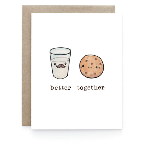 Better Together - Milk & Cookies Card