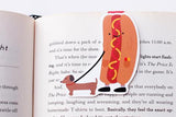 CraftedVan - Hot Dog Walking Wiener Dog Magnetic Bookmark
