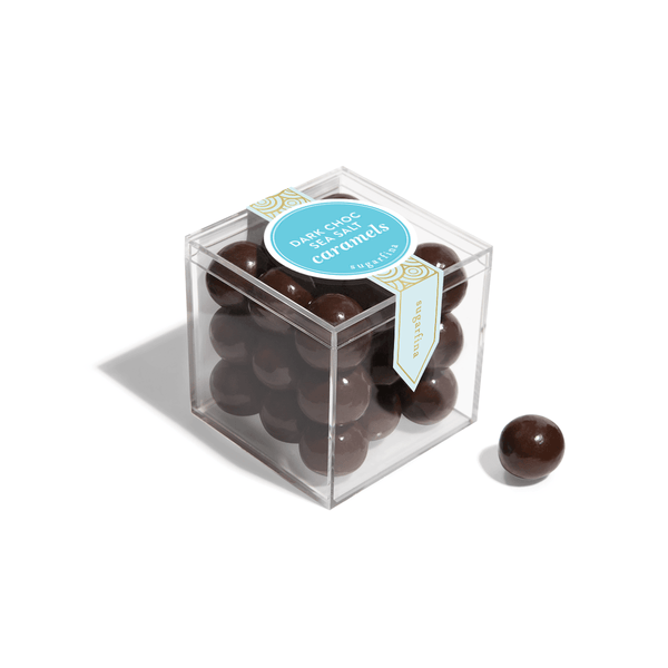 Dark Chocolate Sea Salt Caramels Candy Cube
