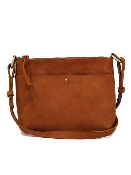 ABLE Emnet Mini Crossbody Chestnut