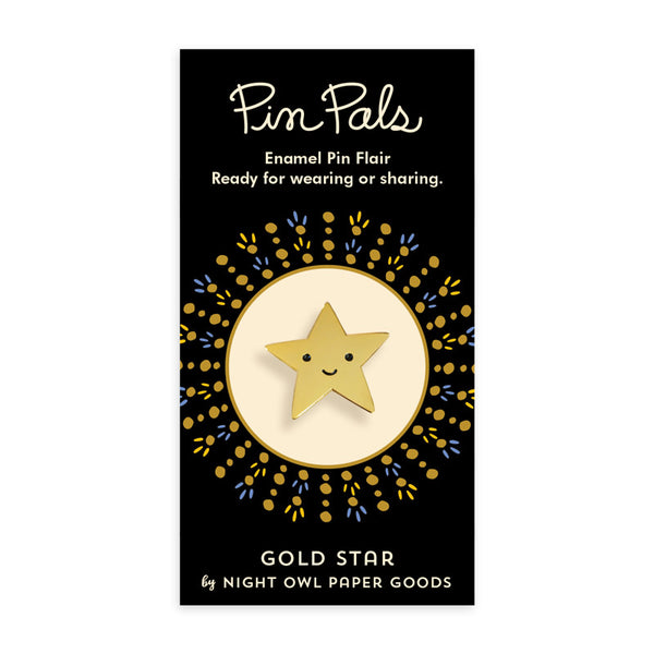 Gold Star Enamel Pin