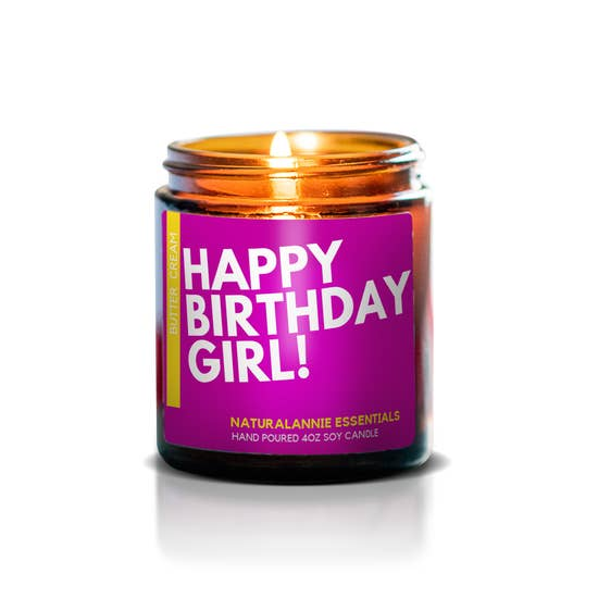 Happy Birthday Girl! Soy Candle