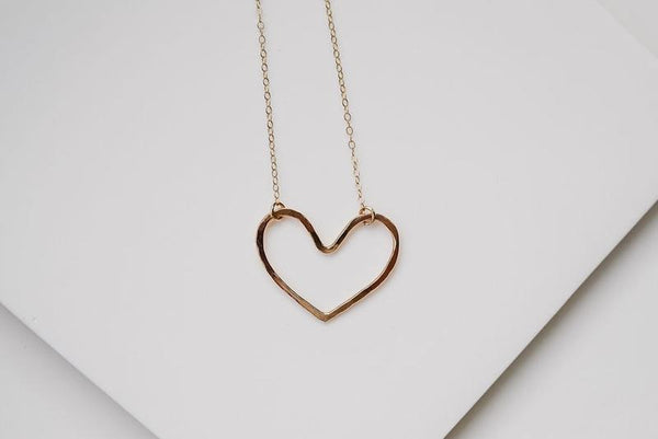Open Heart Necklace - Gold or Silver