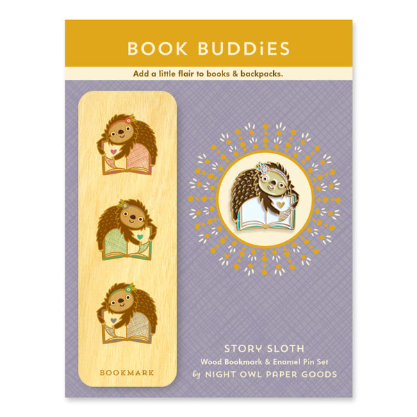 Sloth Story Book Buddies Gift Set