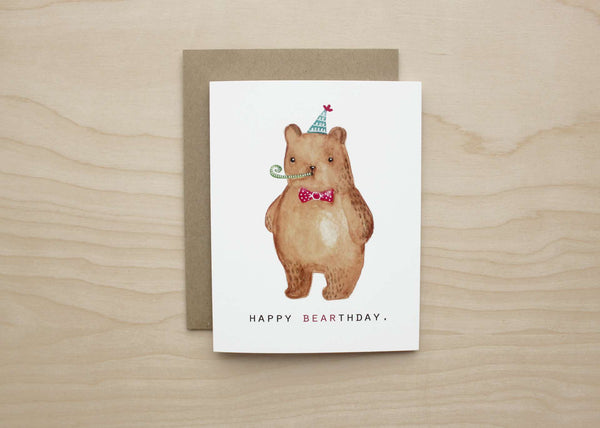 Art+Soul - Happy Bearthday Card