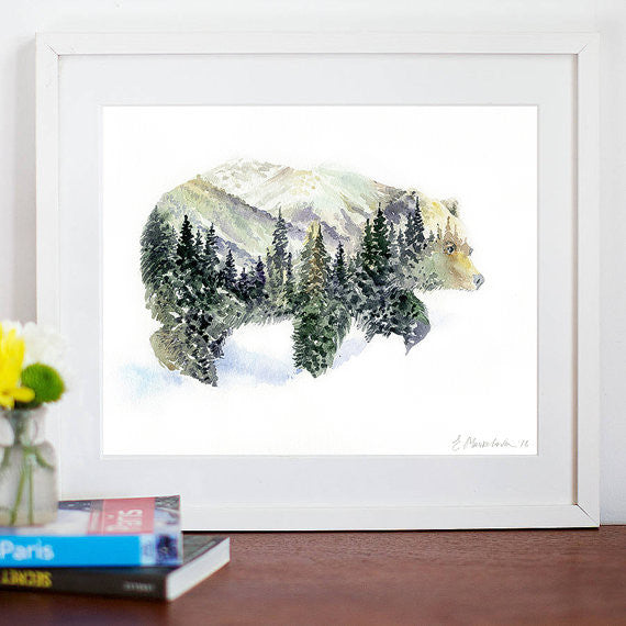 In the Forest Art Print - Mr Bear