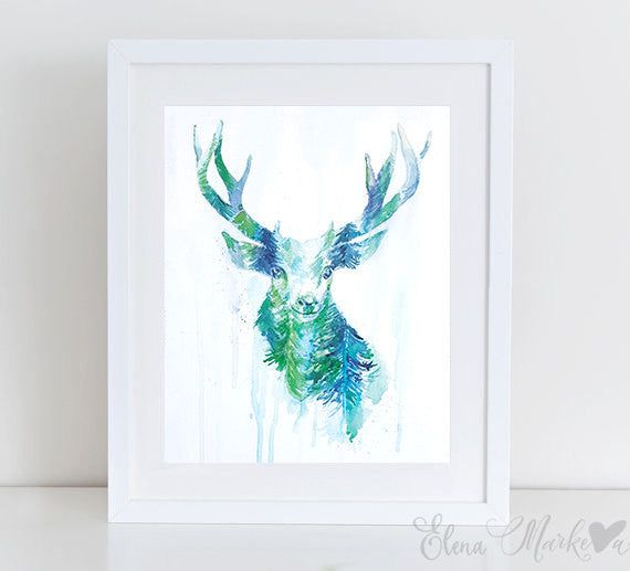In the Forest Art Print - Oh Deer