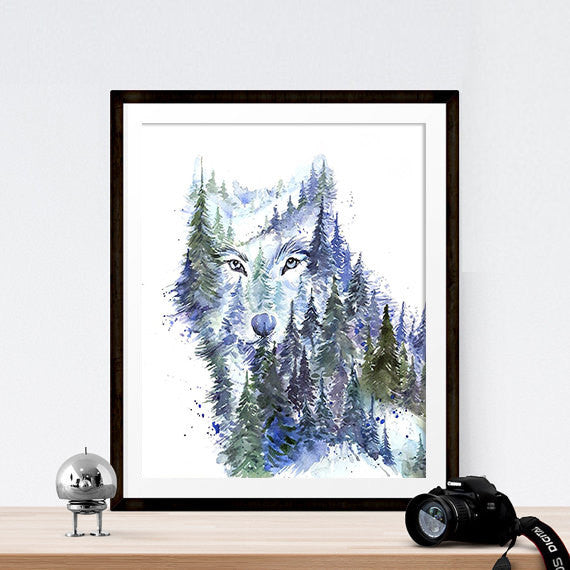 In the Forest Art Print - Young Wolf