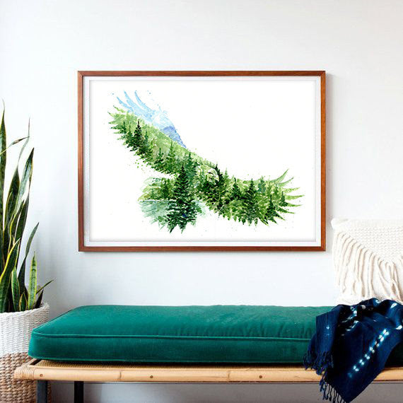 In the Skies Art Print - The Eagle