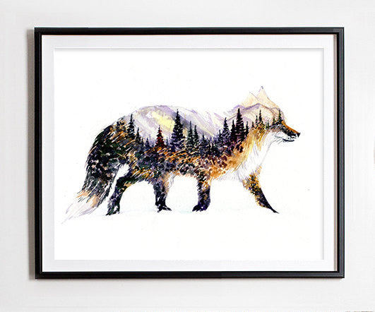 In the Forest Art Print - Little Fox
