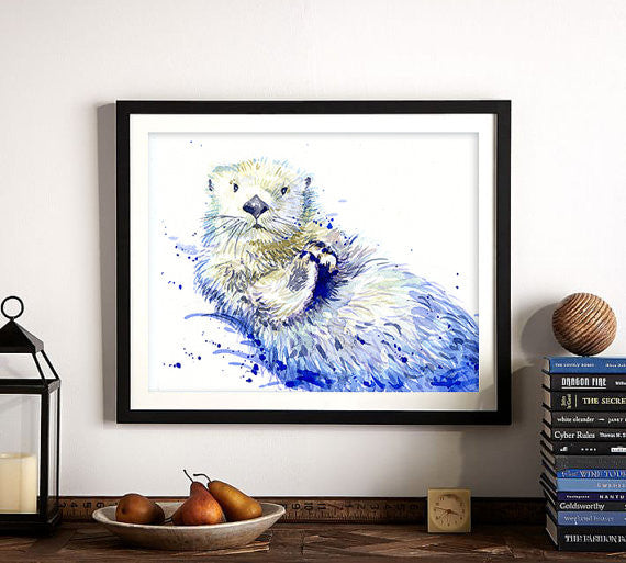 In the Ocean Art Print - Sea Otter