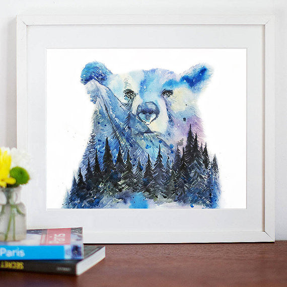 In the Forest Art Print - Aurora Bear