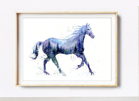 Domestic Animals Art Print - Horse