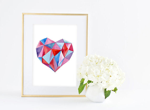 Inspiration Art Print - Geometric Heart