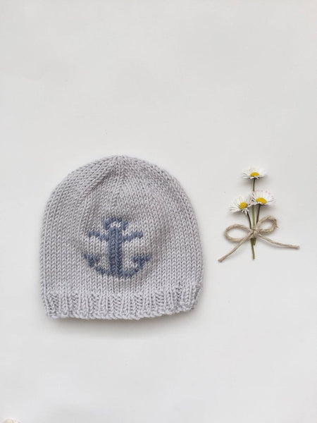 Anchors Away Knitted Baby Bonnet