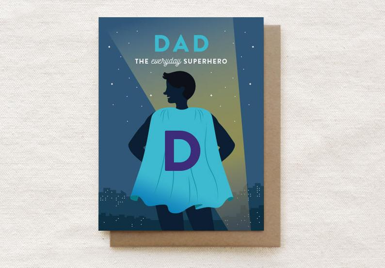 Superhero Dad Card