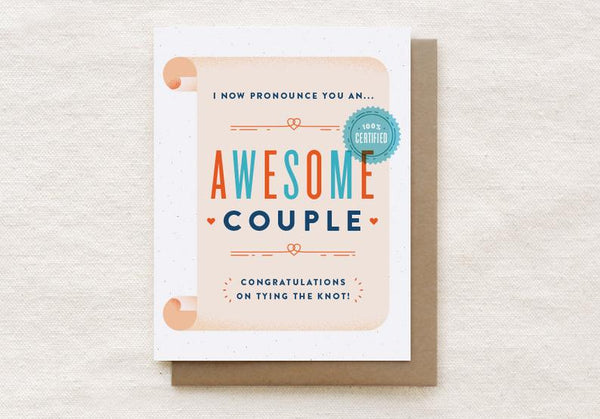 Awesome Couple Wedding Card