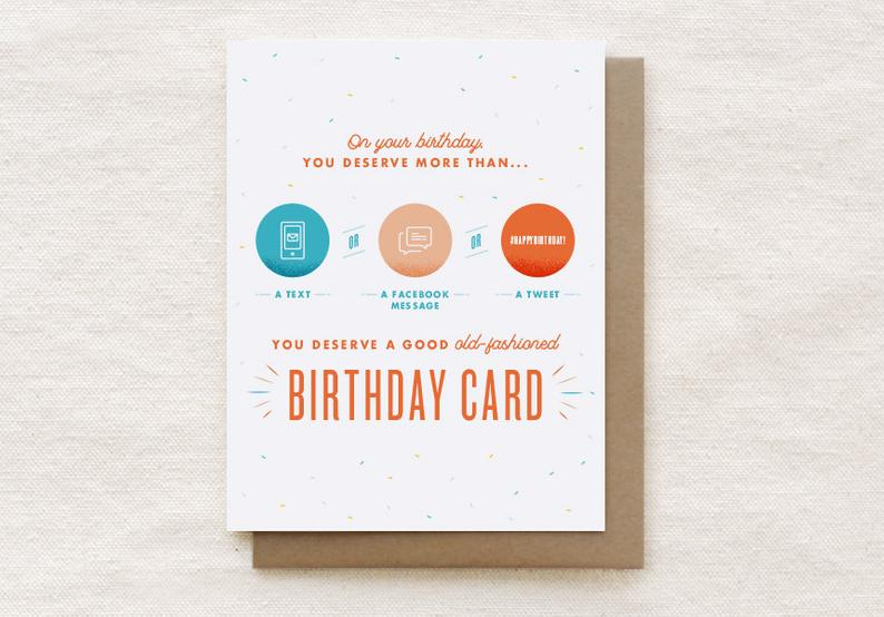 Text Birthday Card